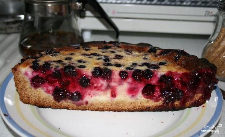 Торт со свежей смородиной