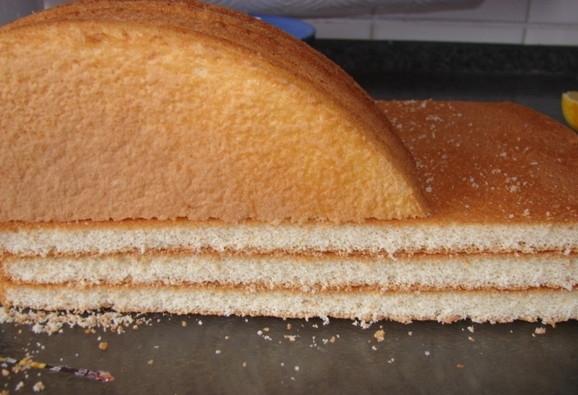 Как сделать торт из бисквитный