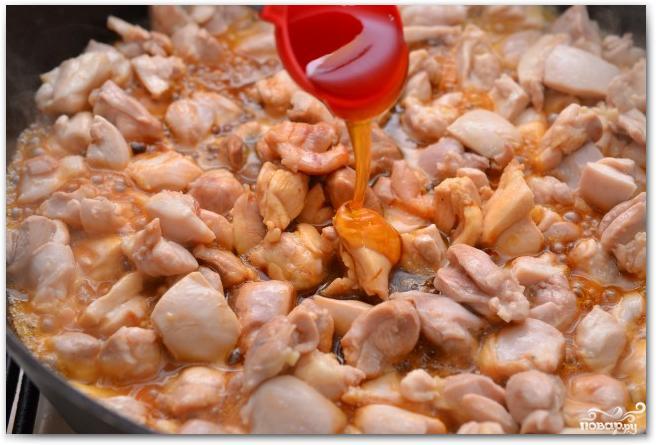 Паста с курицей и медом - фото шаг 5