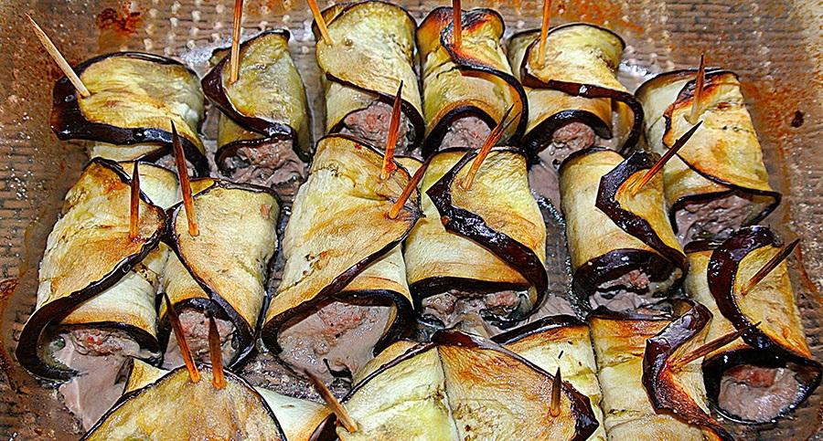 рулетики из баклажан в духовке рецепты с фото