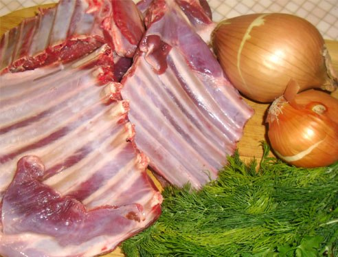 Рецепт Ребрышки барбекю на мангале