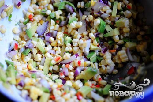 Сальса из свежей кукурузы и авокадо - фото шаг 9