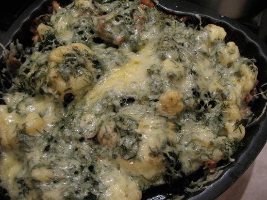 Цветная капуста с грибами и сыром - фото шаг 9
