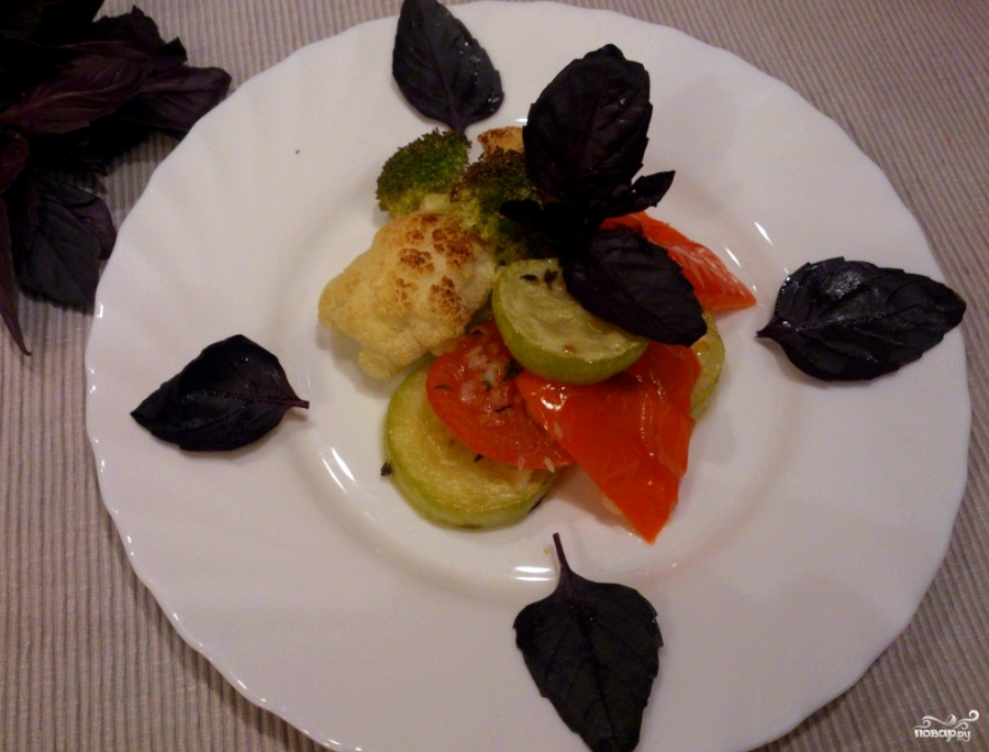 овощи в духовке рецепт с фото соевый