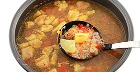 Суп с мясом в мультиварке - фото шаг 9
