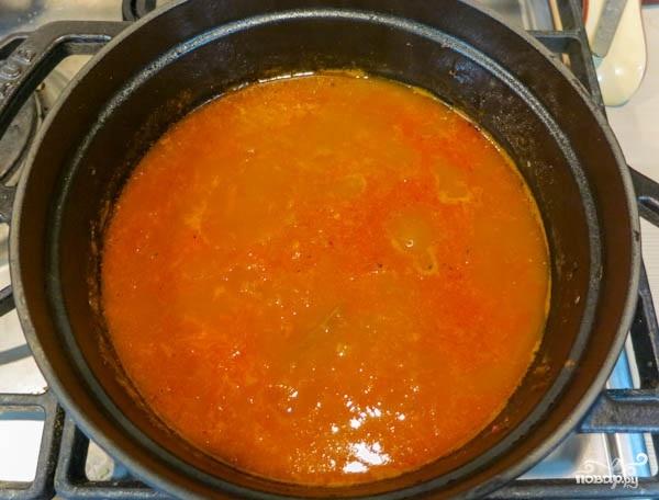 Щи с томатной пастой - фото шаг 5