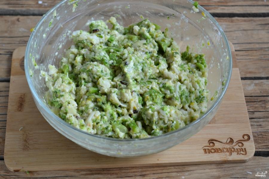 Котлеты из брокколи и цветной капусты - фото шаг 5
