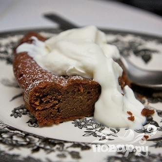 Шоколадный пирог с сердцем - фото шаг 8