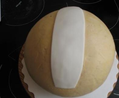 """Торт """"Волейбольный мяч"""" - фото шаг 3"""