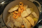 Морепродукты с квашеной капустой