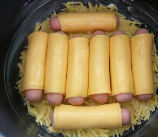 Сосиски с картошкой в мультиварке рецепт с пошагово