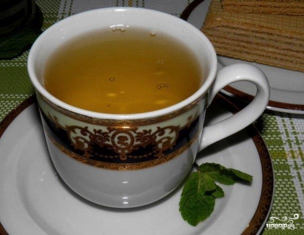 Зеленый чай с грибом рейши