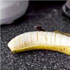 Рецепт Блинный торт с бананом и ореховой глазурью