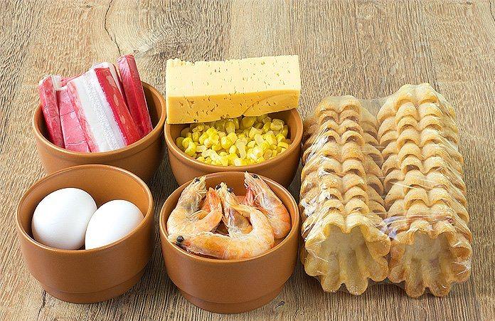 Рецепт Тарталетки с крабовым мясом