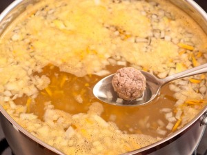 Суп кюфта с фрикадельками - фото шаг 9