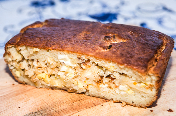 Тесто на кефире с капустой - фото шаг 16