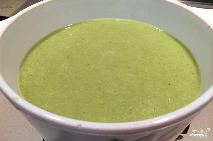 Суп-пюре из брокколи с сыром - фото шаг 3