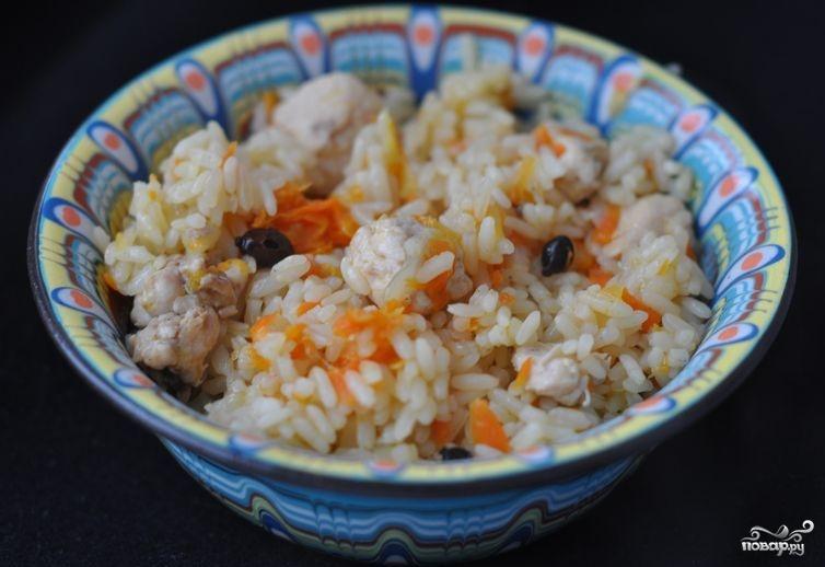 Плов из курицы на сковороде