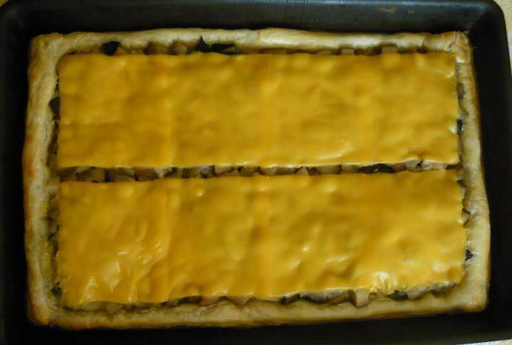Пирог с грибами и сыром - фото шаг 5