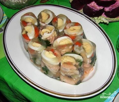 Рецепт Заливное из рыбы без желатина