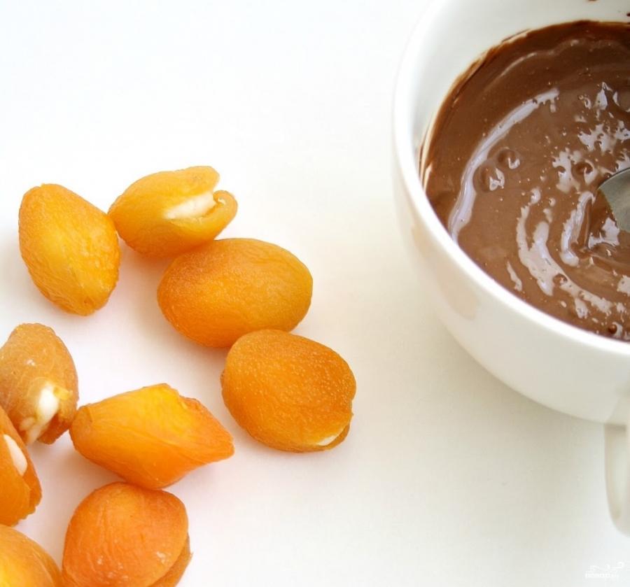 "Конфеты ""Курага в шоколаде"" - фото шаг 4"