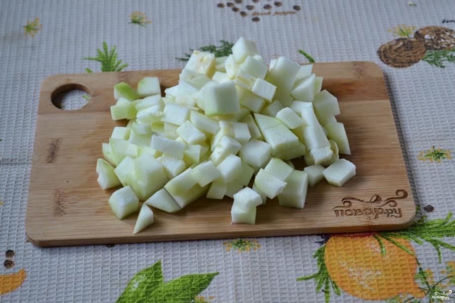 Кабачковая икра с яблоками на зиму - фото шаг 4