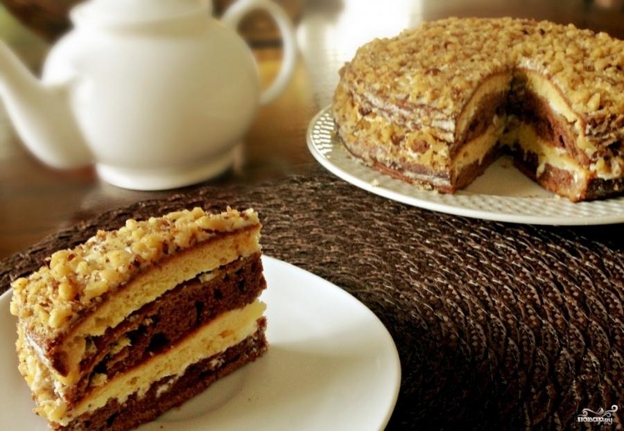 Торт зебра со сметаной домашний