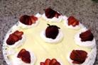 Легкий клубничный пирог