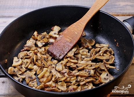 Паста с ветчиной и грибами - фото шаг 5