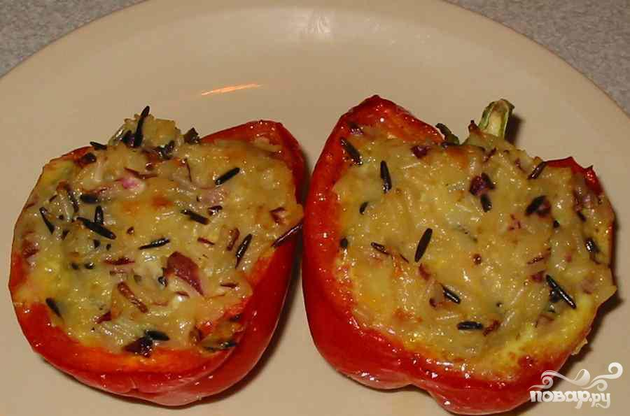 Красный перец с сыром - фото шаг 4