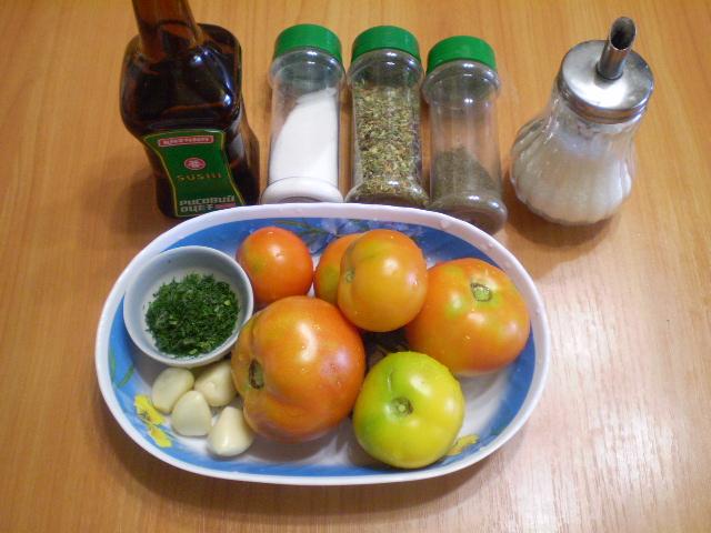 Рецепт Быстрые помидоры с чесноком