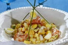 Салат из ананаса с креветками