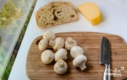 Рецепт Запеченные бутерброды с грибами