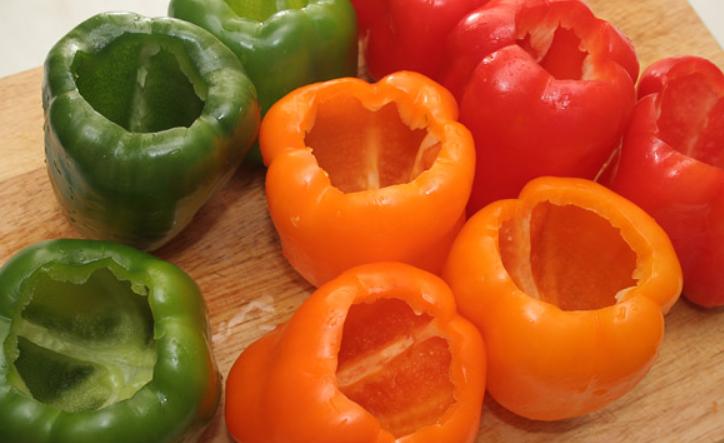 Рецепт Перец, фаршированный мясом и овощами