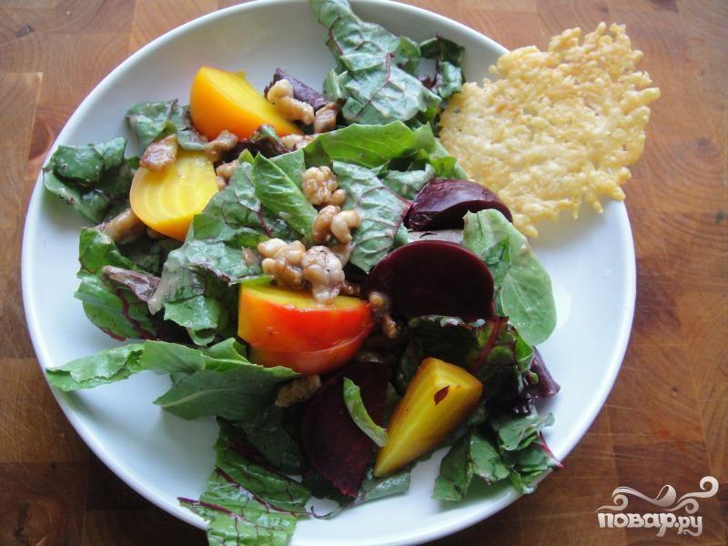 Рецепт Салат со свеклой и грецким орехом