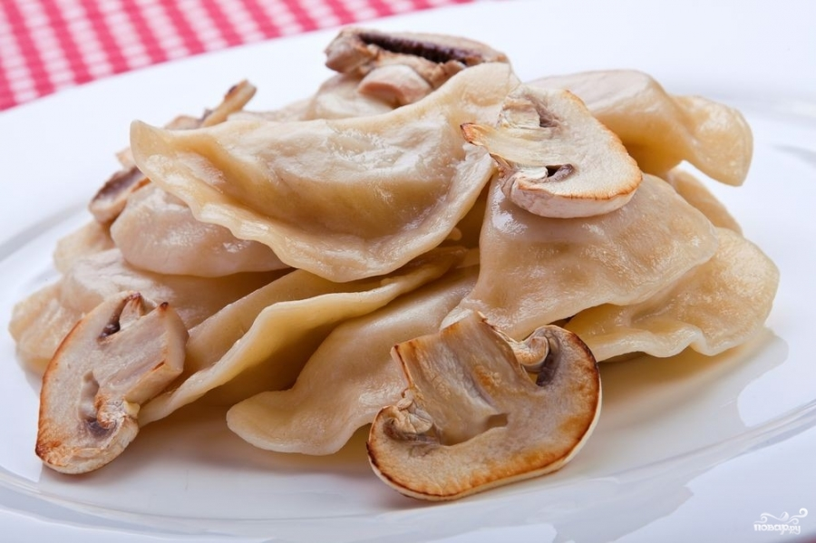 Постные вареники с грибами - фото шаг 5