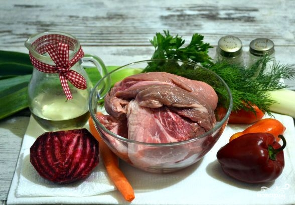 Овощное рагу со свининой в духовке - фото шаг 1