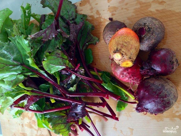 Рецепт Свекольный салат с мандаринами