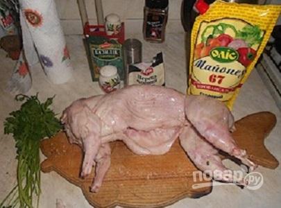 Тушка кролика в духовке - фото шаг 3