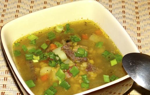 Гороховый суп с ребрышками в мультиварке - фото шаг 4