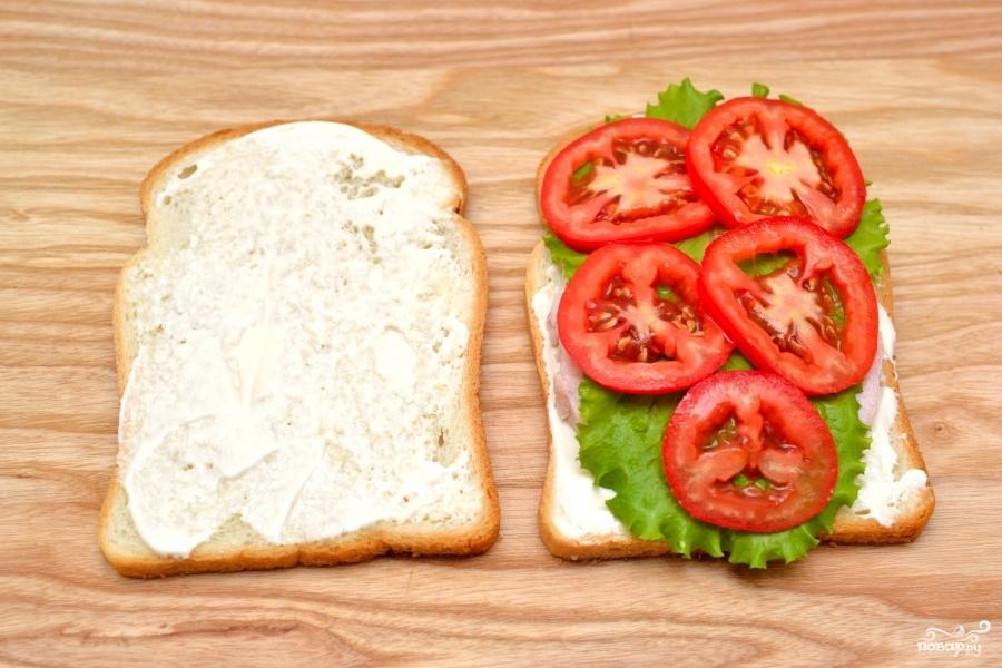 Сэндвич с ветчиной - фото шаг 4