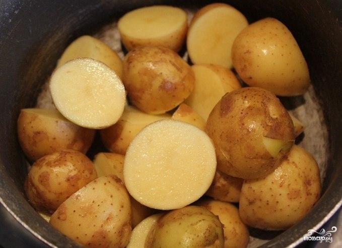 Рецепт Вареная картошка с чесноком