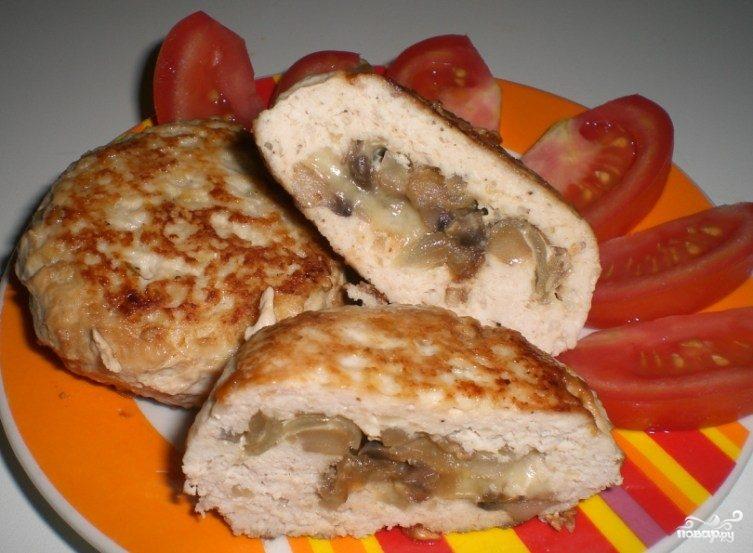 Рецепт Биточки с грибами