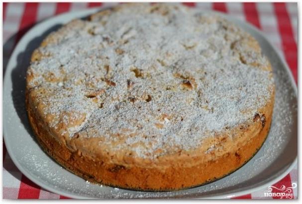 рецепт шарлотки с сахарной пудрой и корицей