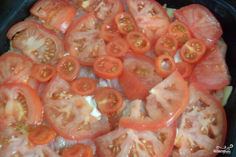 Свинина по-французски с помидорами и картошкой - фото шаг 6