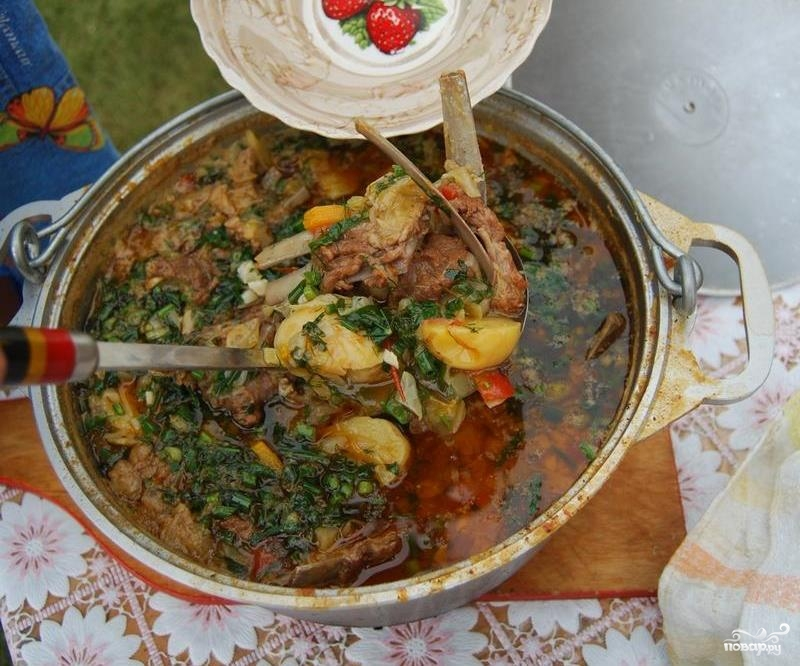 Суп из баранины шулюм рецепт