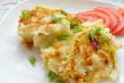 Цветная капуста с яйцом на сковороде