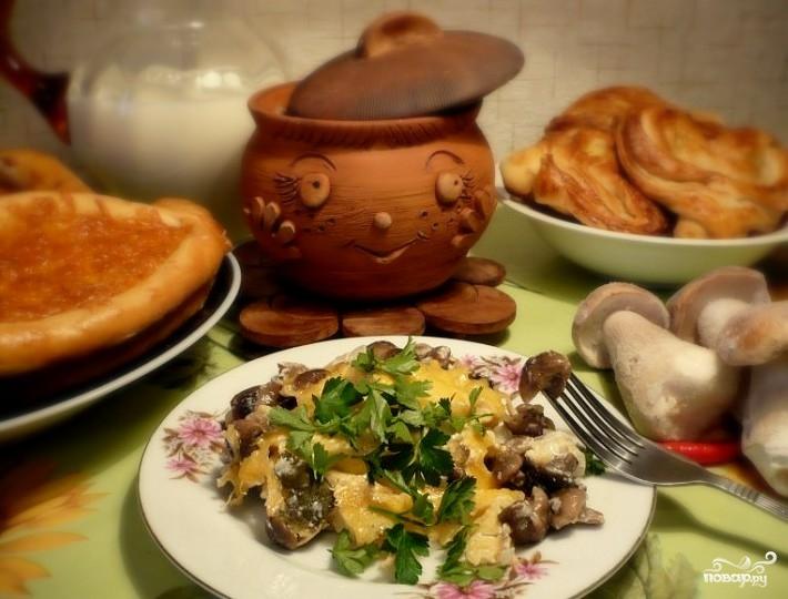 рецепт картошка курица грибы в горшочке в духовке