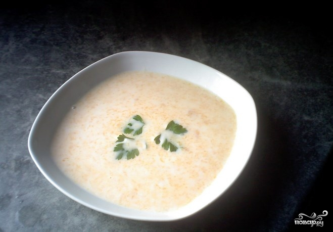 Суп из кольраби с курицей