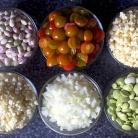 Рецепт Салат из фасоли, кукурузы и бекона